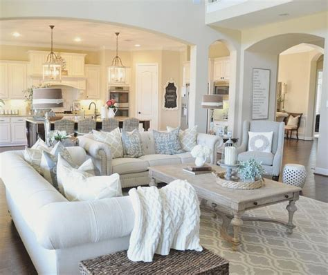 Decorating Ideas For Open Concept Living Room Dining Room And Kitchen by 39 Decorating Ideas For Large Open Living Room Wall