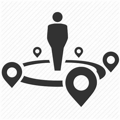 Icon Nearby Places Around Map Center Locations