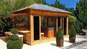 amenager un bassin exterieur 7 abri de spa en bois pour With amenager un bassin exterieur