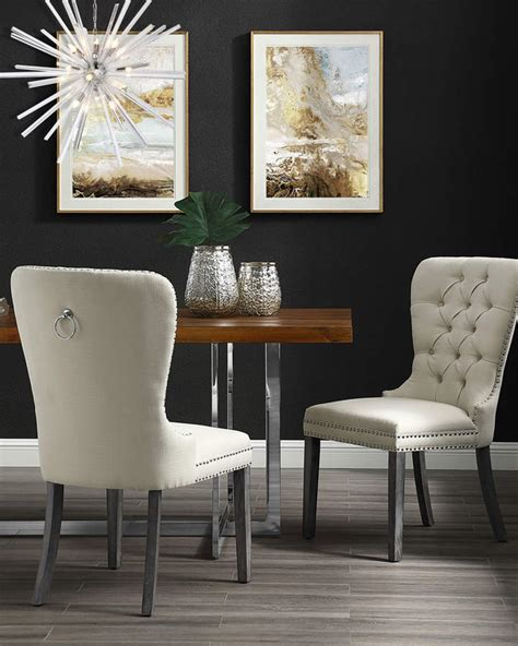 inspired home ring dining chairs cream white set