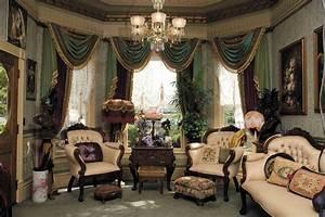 Victorian Wallpaper Sitting Room Traditional Soggiorno