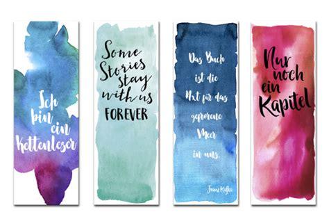 lesezeichen set  lesezeichen aquarell watercolor bookmarks