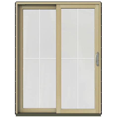 bronze sliding glass patio doors simonton 143 5 in x 79 5 in 4 panel contemporary vinyl