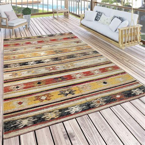 Outdoor Teppich Gelb by In Outdoor Teppich Ethno Creme Rot Gelb Teppich De