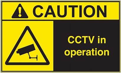 Cctv Operation Caution Ansi Vinyl Label