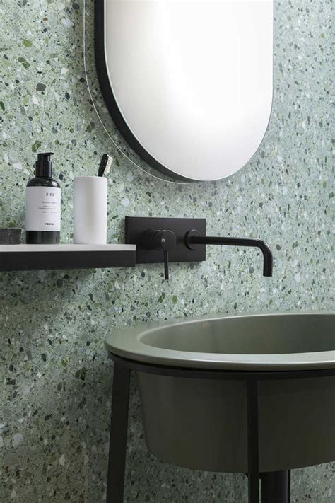 edgy terrazzo decor ideas  bathrooms shelterness