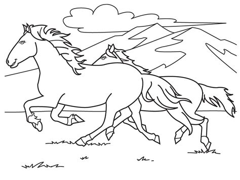 coloring pages  printable horse coloring pages