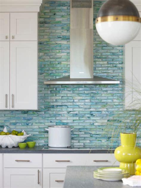 sea glass tile backsplash design ideas remodel pictures