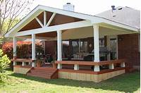 covered porch ideas Small patio decks, deck with covered porch design ideas ...