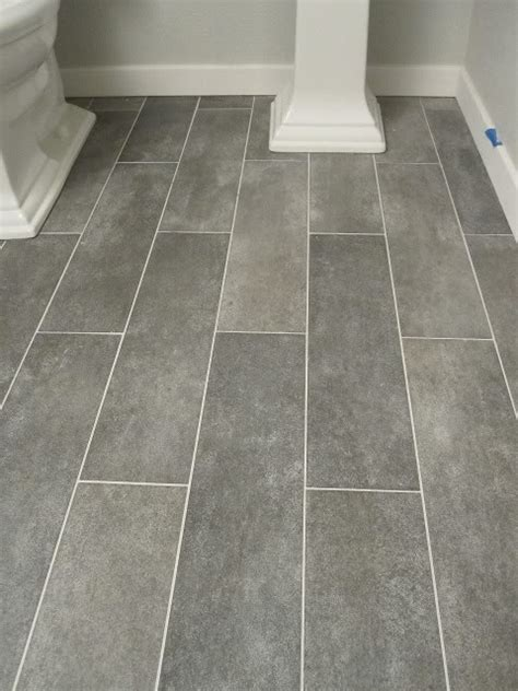Gray Plank Tile Bathroom Wide Plank Tile For Bathroom Great Grey Color Would