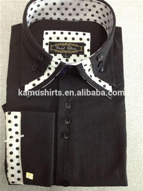 mens double high collar shirts  fashion italian dress
