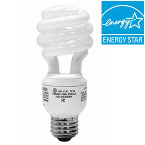 local cost of a 13 watt compact fluorescent light bulb