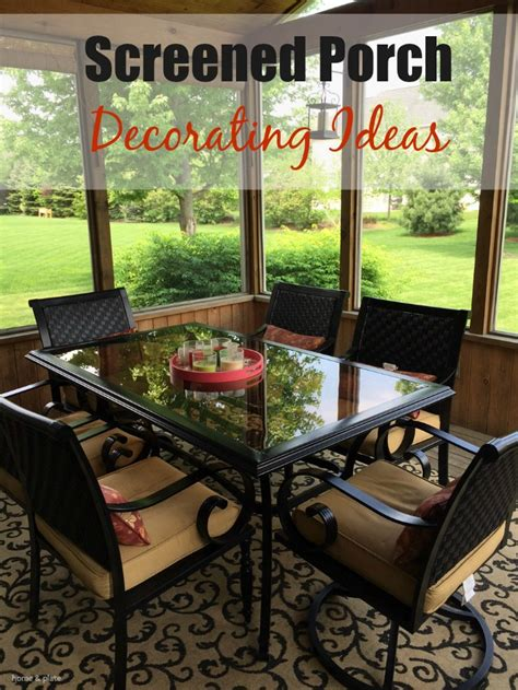 How To Decorate A Screened Porch by Screened Porch Decorating Ideas Home And Plate