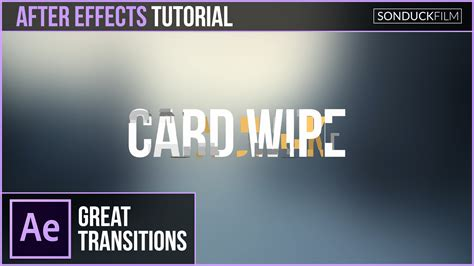 effects text  text card wipe transition sonduckfilm