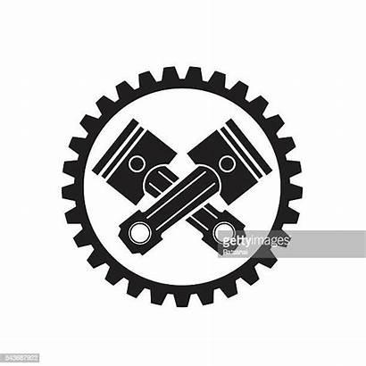 Gear Pistons Vector Piston Cars Clipart Engine