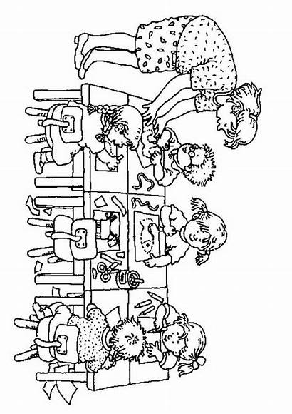 Coloring Pages Kindergarten Classroom Rules Coloriage Fun