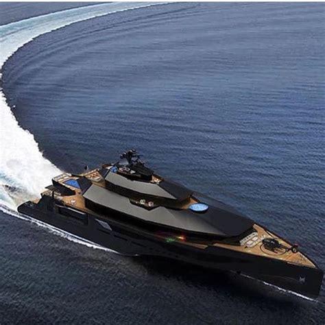 Back Of A Boat by Matte Black Mega Yacht Thebosslifeinc Stuff To Buy