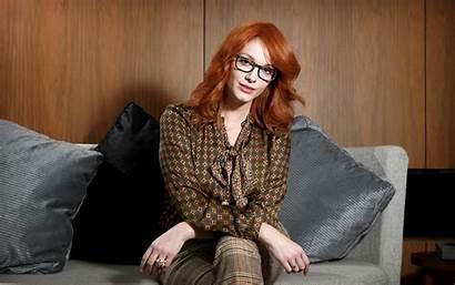 Christina Hendricks Redhead Glasses Mature Hair Actress