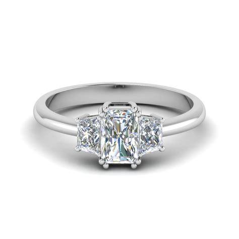discounted platinum three engagement ring