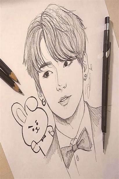 Bts Drawings Kpop Easy Pencil Anime Jungkook