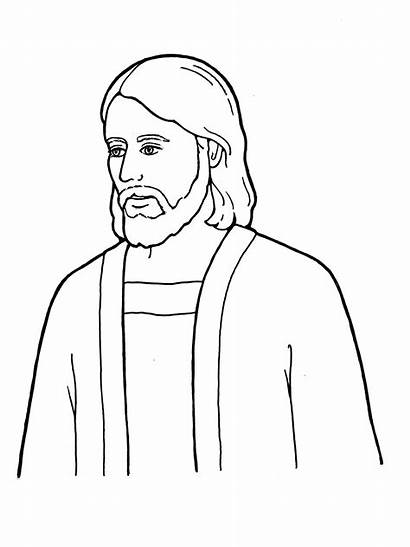 Jesus Christ Lds Simple Coloring Drawing Pages
