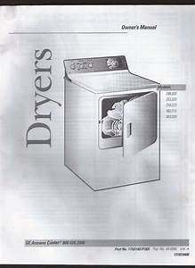 Ge Dryer Owner U0026 39 S Manual Models Dbl33 Dcl33 Dvl223 Nll113