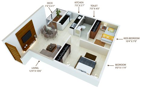 1 Bhk Home Design : Master, Unit & Floor Plans Of 1 Bhk Homes At Paud, Pune