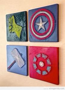 Diy superhero wall decor : The avengers string art diy free