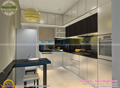 kitchen and dining interior design dining kitchen wash area interior kerala home design 7667