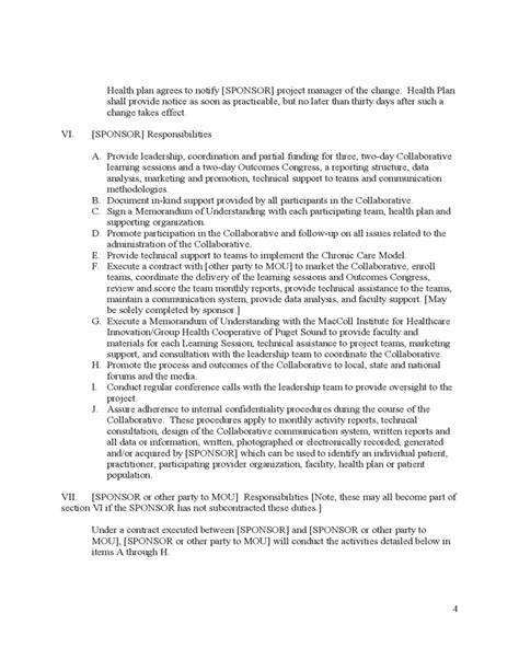 basic memorandum  understanding sample
