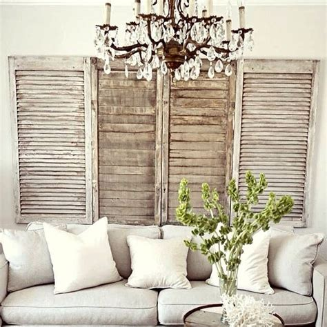 French Country Living Rooms Decorating by 1000 Ideas About Old Shutters Decor On Pinterest
