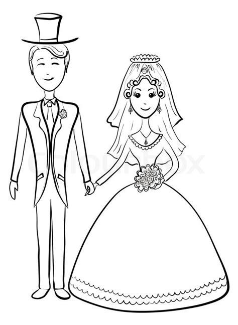 cartoon  bride  groom   wedding ceremony