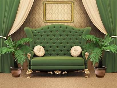 Interior Sofa Chair Couch Studio Furniture Flower