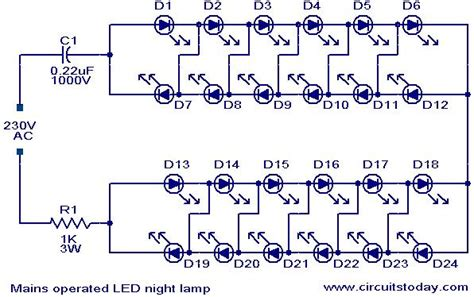 Led Bulb 9 C Wiring Schematic by Mains Operated Led L Electronic Circuits And Led
