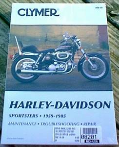 Clymer Repair Manual Harley Davidson Ironhead Sportster Xl All 1959