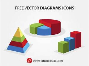 Colorful Diagram Icons Vector Graphic Vector