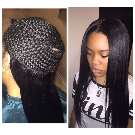 Sew In Hairstyles With No Hair Out by Sew In With Minimal Leave Out Gorgeoushaiir Sew In
