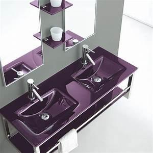 Lavabo Double Vasque En Verre Jazz
