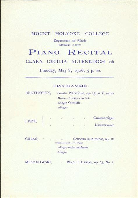 piano recital program gowing other event programs