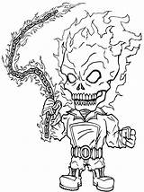 Ghost Rider Coloring Pages Print Ghostrider Cartoon sketch template