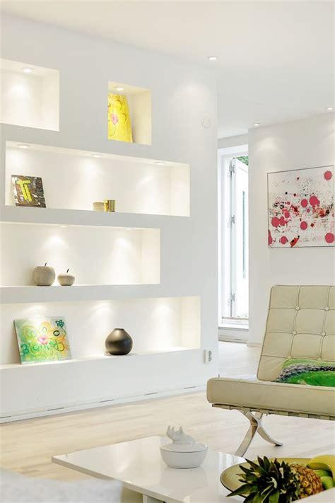 small space solution wall niche shelves interiorholiccom