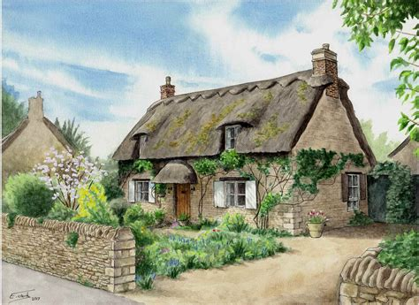 Thatched Cottage by Thatched Cottage Edward J Clark