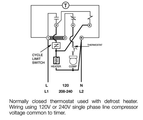Timer Wiring Pin Diagram by Defrost Timer Climate Ltd