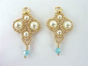 Free Beading Pattern For Palace Pearl Earrings