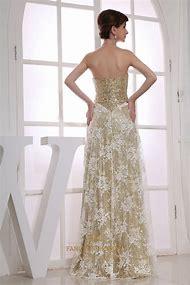 Long Gold Sequin Evening Dress