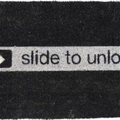 Slide To Unlock Doormat by Housewarming Gifts For Gift Ideas For Cave
