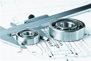 Bearing  Calipers And Mechanical Diagrams Stock Image