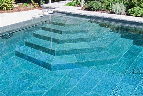 pool treppe nachrüsten natursteinpool schwimmbad egli gartenbau ag uster