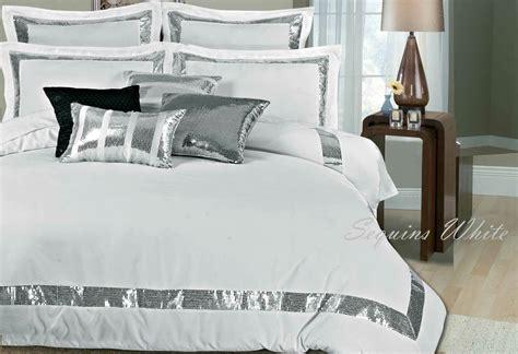 White Duvet Cover King by Sequins White Duvet Quilt Cover Set King King