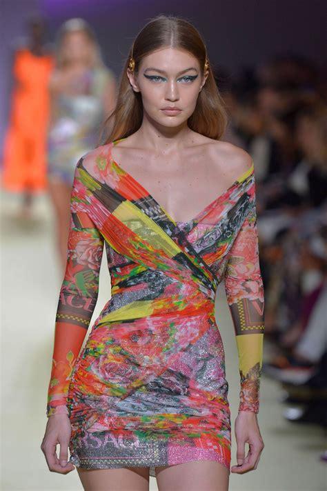 GIGI HADID at Vesace Runway Show at Milan Fashion Week 09 ...